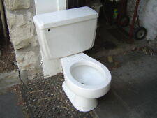 VINTAGE 1970's ONE FLUSH American Standard toilet commode 4049 ROUND bowl WHITE