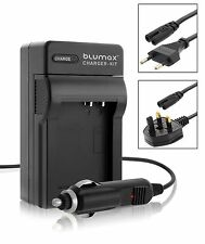 Mains & Car Charger for Canon BP-808 BP-809 BP-819 BP-827 Camcorder Battery