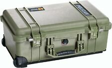 PELICAN 1510NF OD GREEN CASE WITH NO FOAM AIRLINE CARRY ON 1510 NF