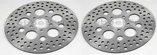 "Harley Brake Disc Rotors 11.5"" Satin Vented Stainless Steel (1 Front, 1 Rear)"
