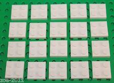 Lego White plates 2x2 20 pieces NEW!!!