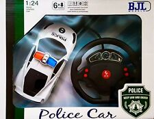 RC Police Remote Radio Control Car 1:24 Scale w/LED - Racing Model - Ideal Gift