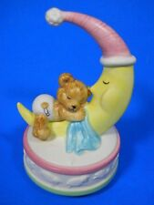 "Baby Bear on MOON  ""Rock-a-Bye Baby"" FRASER COLLECTION OTAGIRI Music Box JAPAN"