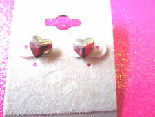 Mini Silver Heart Earrings 1/4 Inch