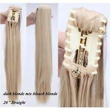 Jaw Ponytail Clip in Hair Extension Claw Pony tail Natural As Human Hairpiece US