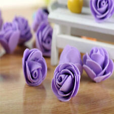 Wedding Flower Artificial Rose Garland Mini Purple Candy Foam Roses 3cm 10pcs