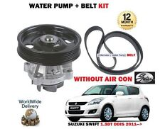 FOR SUZUKI SWIFT 1.3DT DDIS D13A 2011-  WATER PUMP + FAN BELT WITHOUT AC AIR CON
