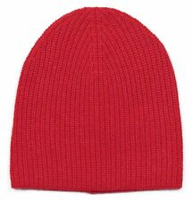 *NEW* J.Crew Women's Ribbed Cashmere Hat in Orange-Red - Winter Cap - One Size