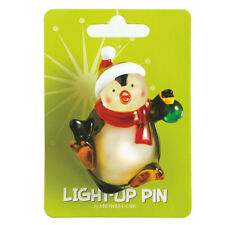Wonderlights Light-Up Acrylic Penguin Christmas Pin