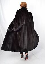 US51 modern Mink fur coat jacket full length abrigo de vison Nerzmantel ca. 2XL