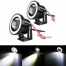 "2x 2.5"" Car White Coche COB LED Fog Driving Light Projector Halo Angle Eyes Ring"