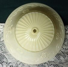 Vintage Art Deco Embossed Off White Eggshell Ceiling Light Lamp Shade