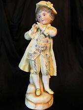 "Huge 17"" Antique German Porcelain Bisque Boy Figurine #5031 Excellent Condition"