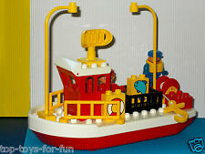 Lego Duplo ~ barco ~ barco pesquero ~ barco de pesca peces ~ ~ puerto mar ~ ~ pescadores ~ pescado trailer