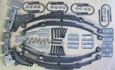 "4 @ 1,750 lb springs with u-bolts and hanger kit for 2.3"" round 7,000 lb trailer"