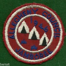 BOY SCOUT PATCH - 1946 - ALLEGHENY COUNCIL JAMBOREE - FREE SHIPPING