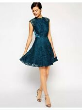 "Bnwt "" Coast "" Size 14 Laura Teal Lace Dress Evening Party Cocktail Wedding New"