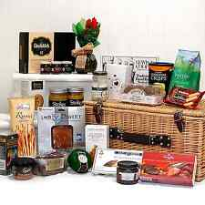 Traditional Gourmet Birthday Wicker Hamper Basket | 25 Food Items | Gifts Her