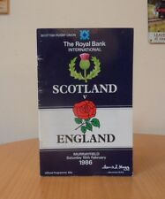 SCOTLAND V ENGLAND-15th/FEBRUARY/1986-RUGBY PROGRAMME-G.HASTINGS SCORES 21 POINT