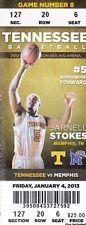 2013 Tennessee Vols vs Memphis Tigers NCAA Basketball ticket stub Jarnell Stokes