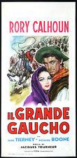 CINEMA-locandina IL GRANDE GAUCHO r. calhoun, g. tierney, r. boone J. TOURNEUR