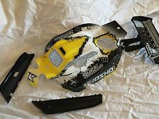 KYOSHO INFERNO NEO 2, NEO YELLOW & BLACK BODY SHELL + GUARDS + WING T4, IFB112T4