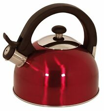 Magefesa 2.1-Quart Sabal Stainless Steel Tea Kettle - Red