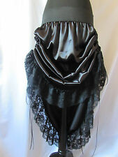 STEAMPUNK RUCHED SIDES SKIRT GOTHIC SWING FULL BIKER CUSTOM MADE 8 22