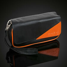 NEW Orange Black Tobacco Pouch Pipe Pocket Pipe Tool Pocket For 2 Pipes #A2