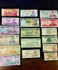UNCIRCULATED SADDAM HUSSEIN IRAQ/IRAQI DINAR  BANKNOTE LOT (17 Nots)c22