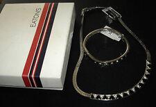 VINTAGE gioielli Collana e Bracciale Set VENDOME CON ETICHETTE IN SCATOLA Eaton'S