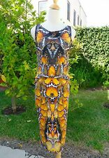 2011 ALEXANDER MCQUEEN MONARCH BUTTERFLY PRINT DRAPED DRESS! A STUNNER!