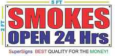 SMOKE SHOP OPEN 24 HRS Banner Sign FANTASTIC Quality for a LOW Wholesale Price
