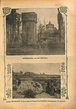 Tour Eski-Baba Tower Edirne Andrinople Adrianople Ottoman  1913 ILLUSTRATION