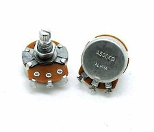 New 2 Pcs A500k Alpha Pot - Audio Taper, Full Size, Alpha Guitar Potentiometers