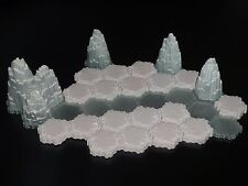 Heroscape Terrain- Mini Tundra Set A - Glaciers, Snow, Ice- Expanded Battlefield