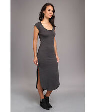 VANS women's XS X SMALL Ryver GREY maxi lightweight short sleeve dress A LINE
