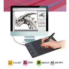 """HUION H420 4""""x2.23"""" USB Art Graphics Drawing Tablet Touch Pen For Computer"""