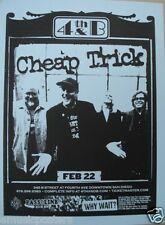 CHEAP TRICK 2006 SAN DIEGO CONCERT POSTER - Illinois' Finest Rock Band!