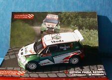 SKODA FABIA S2000 #1 2009 RALLY RUSSIA HANNINEN MARKKULA IXO 1/43 RALLYE RUSSIE
