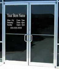 Custom Business Store Hours Sign Vinyl Decal Sticker 12x 15 Window Door Glass