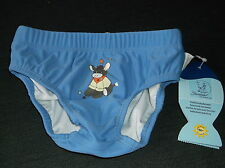 Sterntaler 'Little Donkey' Swim Pants w/Nappy Liner 6-12m 74-80cm Blue Mix BNWT