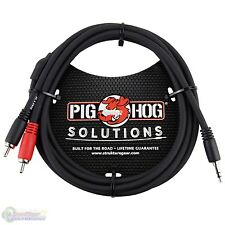 Pig Hog Solutions PB-S3R06 Stereo Breakout Cable, 3.5mm to Dual RCA - 6ft - NEW