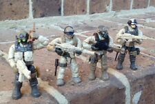 Mega Bloks 06825 Call of Duty Desert Troopers Figures #1,  3, 4, & 5