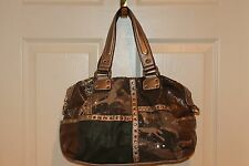 KVZ Kathy Van Zeeland Sequin Camo Satchel Shoulder Purse Bag