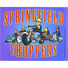 Simpsons sticker Springfield choppers Licensed
