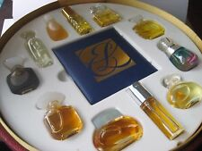 Lot PARFUM Travel Case Set Estee Lauder Pure Perfume Azuree Aliage Cinnabar