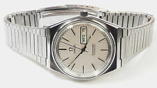 OMEGA SEAMASTER 35mm AUTOMATIC DAY/DATE STAINLESS SWISS 17 JEWEL SILVER DIAL