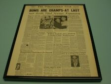 1955 DODGERS WIN FIRST WORLD SERIES FRAMED 11x14 NEWSPAPER FRONT PAGE PRINT