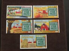 5 - 1998  CONNECTICUT SV SAMPLE LOTTERY TICKETS - AUTUMN GOLD